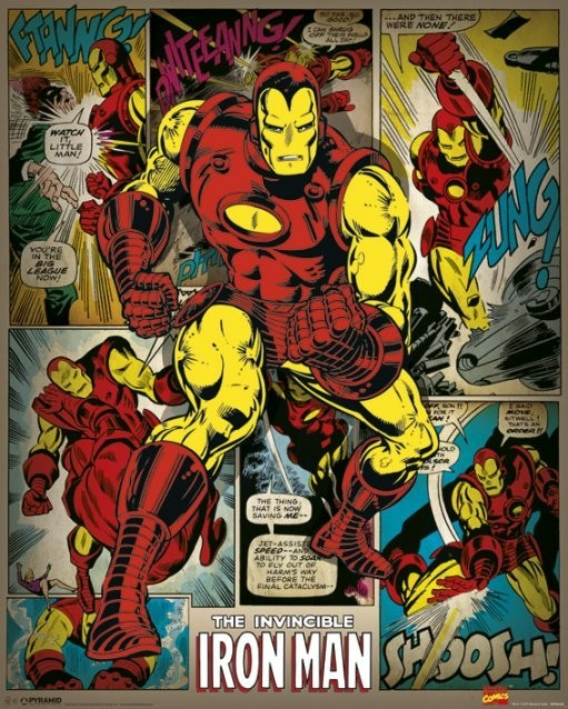 MARVEL COMICS iron man retro Poster