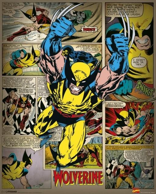 MARVEL COMICS wolverine retro Poster