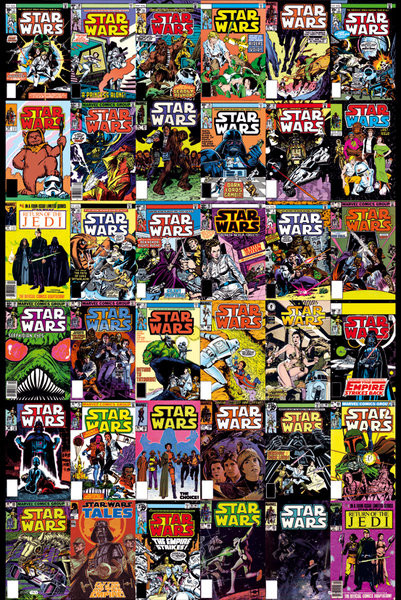 STAR WARS comic covers Poster