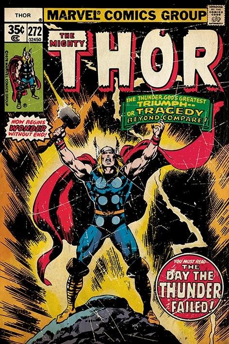 THOR retro comic Poster
