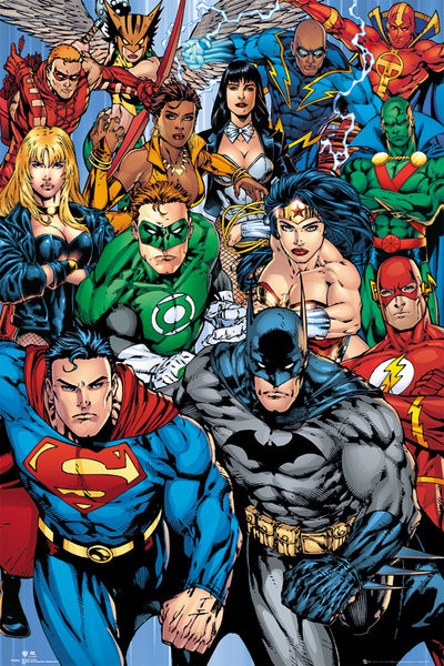 DC COMICS collage Poster