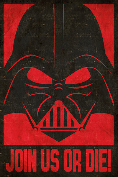 STAR WARS join us stencil Poster