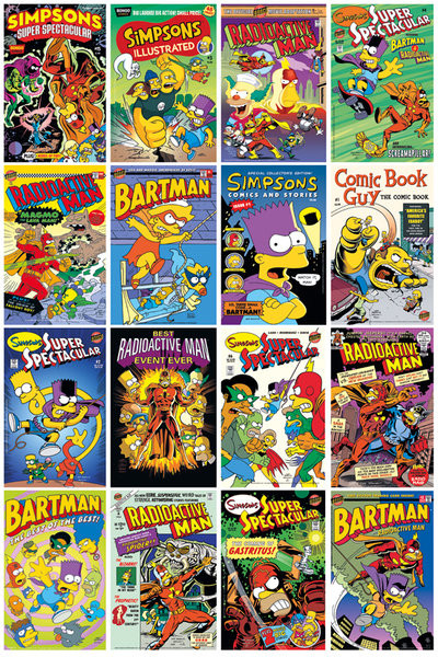 THE SIMPSONS Comic Covers Poster