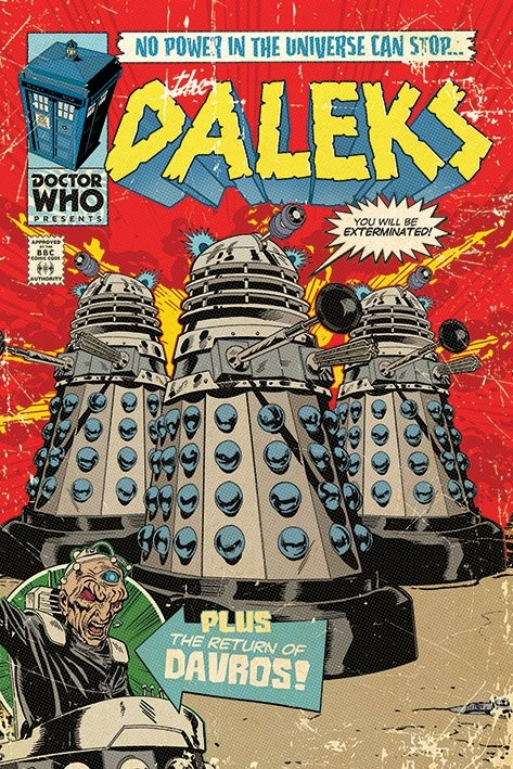 Doctor Who The Daleks Comic Poster