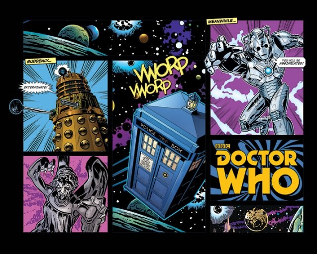 Doctor Who Comic Layout Poster