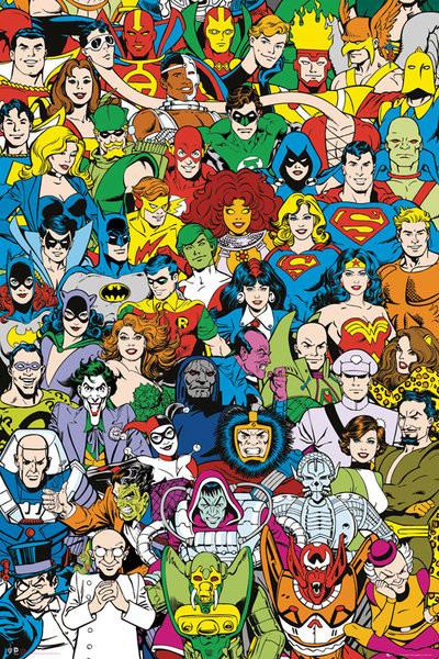 DC Comics Retro Cast Poster