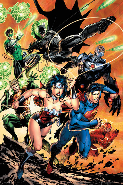 DC Comics Justice League Charge Poster