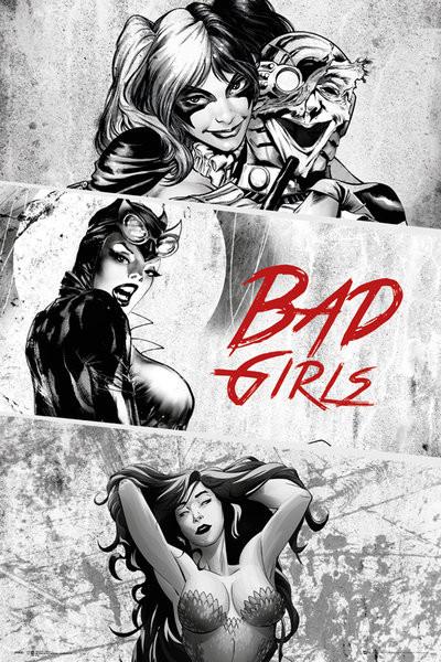 DC Comics Badgirls BW Poster