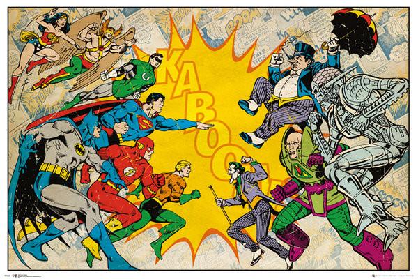 DC Comics Heroes Vs Villains Poster
