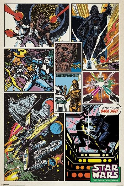 Star Wars Retro Comic Poster