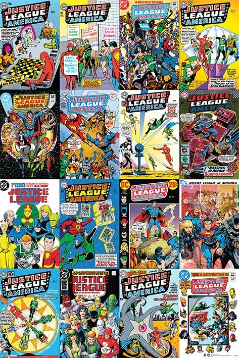 DC Comics Justice League Cover Montage Poster