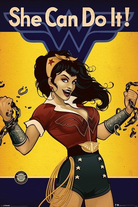 DC Comics Wonder Woman She Can Do It Poster