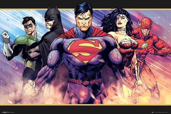 DC Comics Heroes Poster