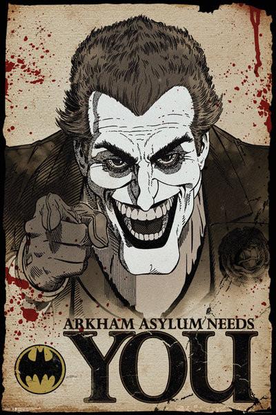 Batman Comic Joker Needs You Poster