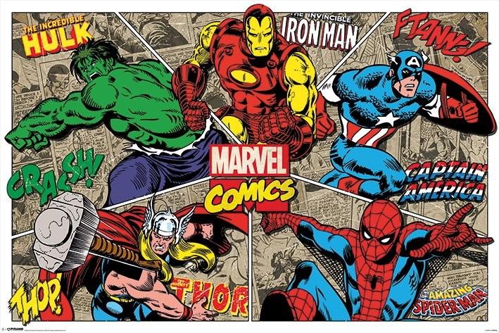 Marvel Comics Character Burst Poster