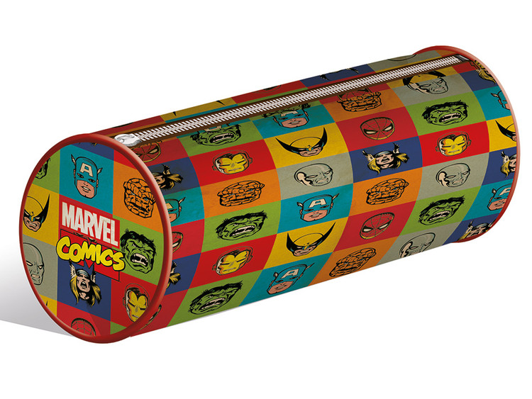 Marvel Retro Faces pencil case Stationery