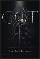 Game of Thrones - Jon For The Throne Framed Poster