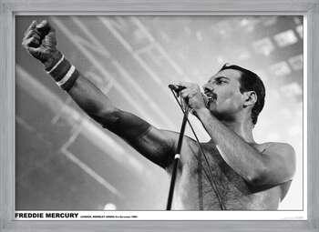 Framed Poster Freddie Mercury - Wembley 1984