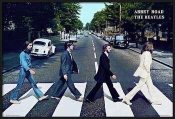 Framed Poster Beatles - abbey road