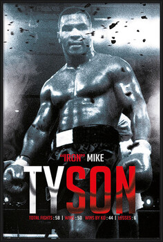Framed Poster Mike Tyson - Boxing Record