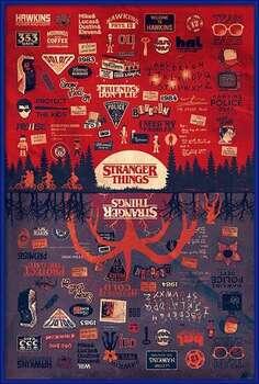 Framed Poster Stranger Things - The Upside Down