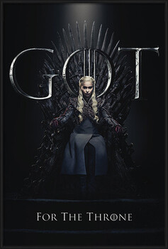 Framed Poster Game Of Thrones - Daenerys For The Throne