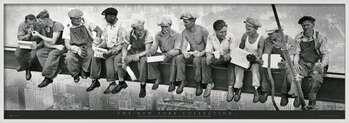 Framed Poster Men on girder