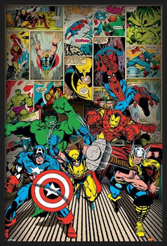 Framed Poster MARVEL COMICS - here come