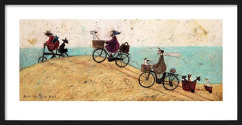 Framed Poster Sam Toft - Electric Bike Ride