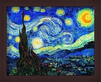 Framed Poster The Starry Night, June 1889