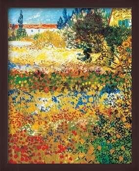 Framed Poster Flowering garden, 1898