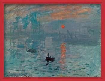 Framed Poster Impression, Sunrise - Impression, soleil levant, 1872
