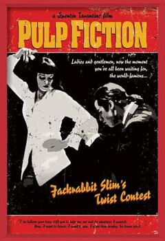 Framed Poster Pulp Fiction - Twist Contest