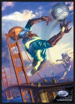 Alien football Poster
