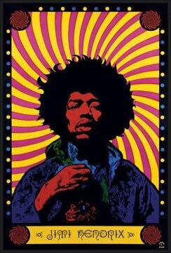 Jimi Hendrix - psychedelic Poster