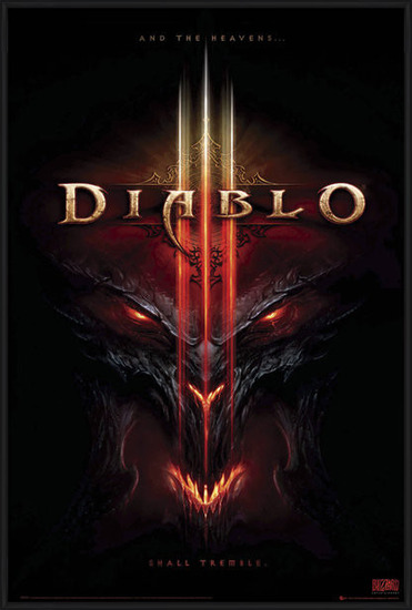 Diablo III - the heavens shall Poster