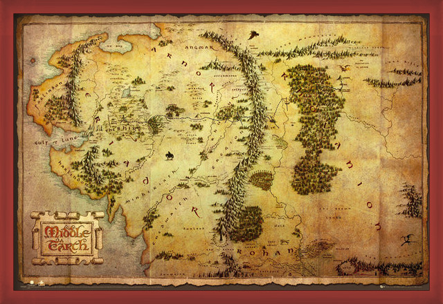 The Hobbit - Middle Earth Map Poster