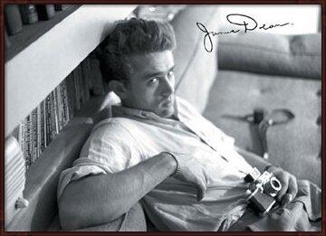 James Dean - camera b&w Poster
