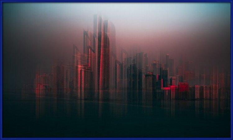 Art Print on Demand Abu Dhabi skyline