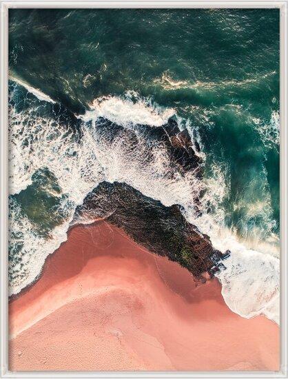 Art Print on Demand Red beach on the Atlantic coast