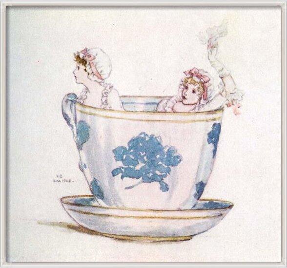 Fine Art Print 'A calm in a  tea-cup' by Kate Greenaway